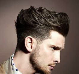 messy pompadour hairstyle for men