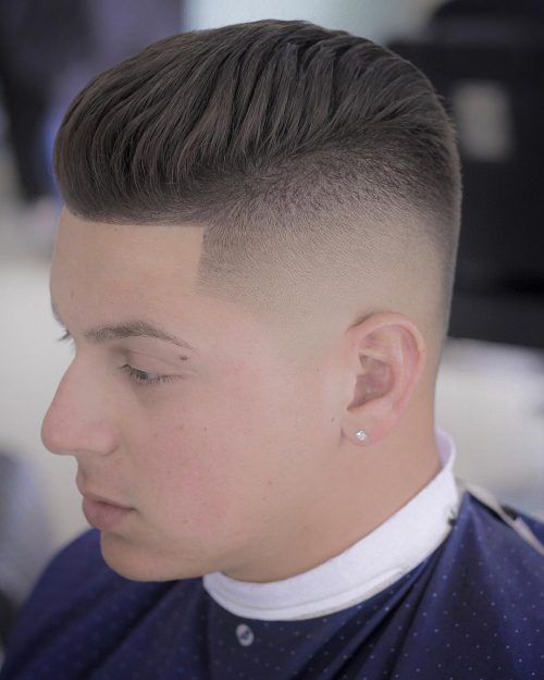 Faded Dye with Sharp Line Up men haircuts