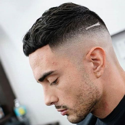 French Crop and Medium Fade hairstyle
