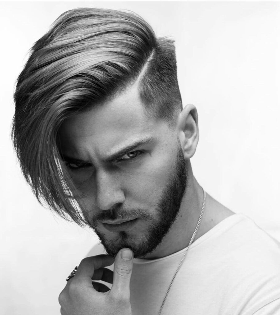 men's Side Swept hairstyle