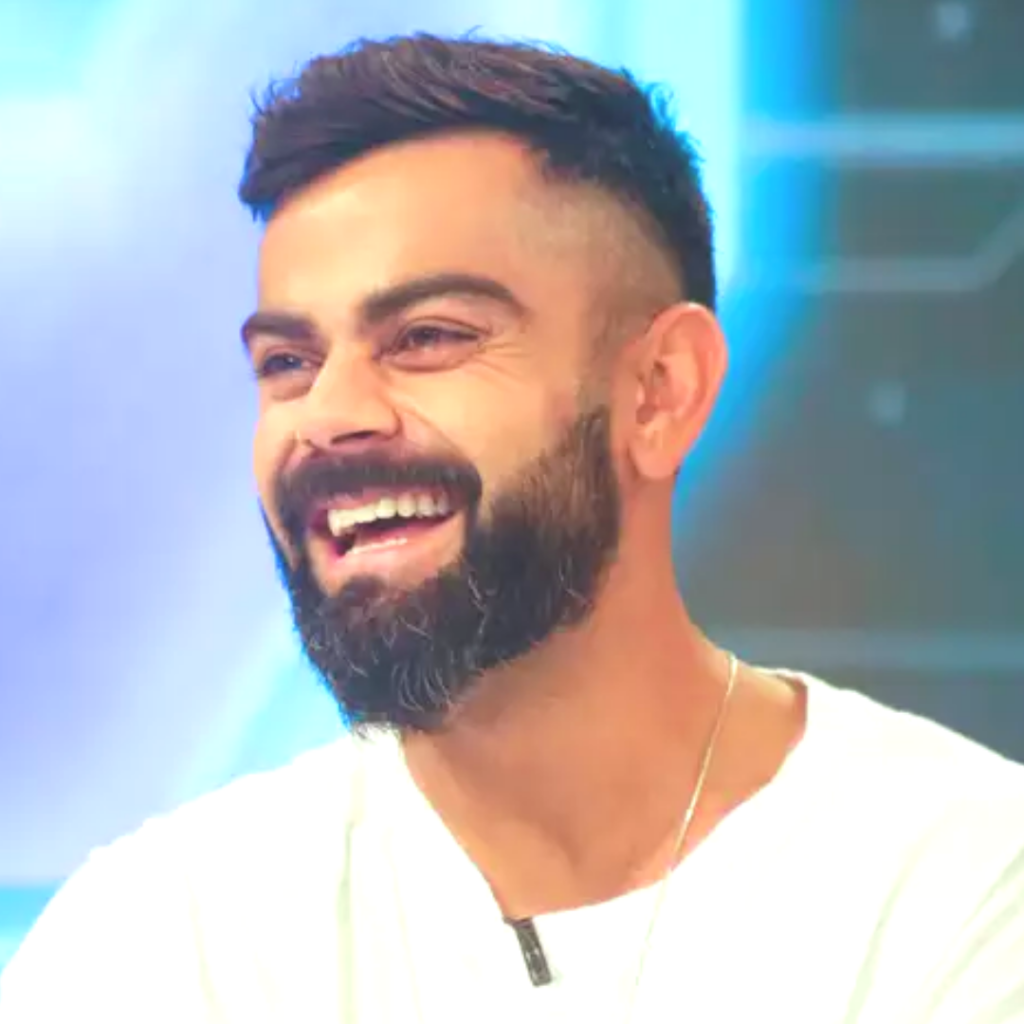 Virat Kohli Side Part with Deep Fade Hairstyle